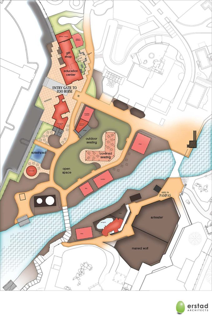 New visitor Entrance site plan w color
